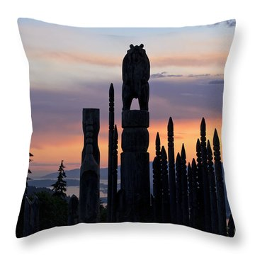 Standing Tall At Sunset Throw Pillow