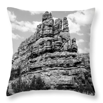 Standing Tall In Black And White Throw Pillow by Denise Bird