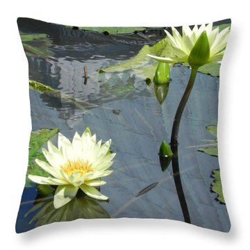 Standing Tall With Beauty Throw Pillow by Chrisann Ellis