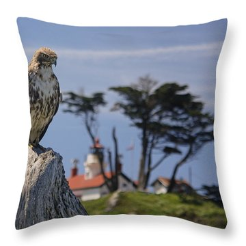 Throw Pillow featuring the photograph Standing Watch by Betty Depee