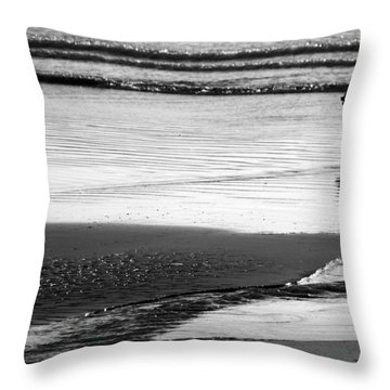 Standoff At The Beach Throw Pillow