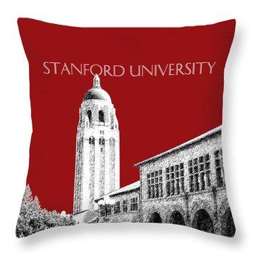 Stanford University - Dark Red Throw Pillow
