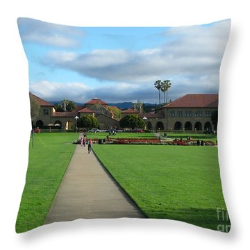 Stanford University Throw Pillow by Mini Arora