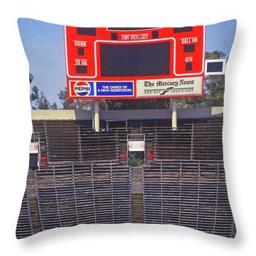 Stanford University Stadium In Palo Throw Pillow