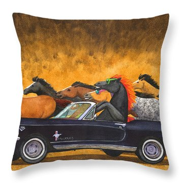 Stang Throw Pillow