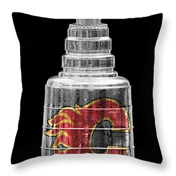 Stanley Cup Calgary Throw Pillow