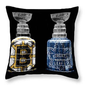 Stanley Cup Original Six Throw Pillow by Andrew Fare