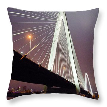 Stan's Span Over The Mississippi River - St Louis Throw Pillow by Garry McMichael