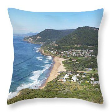 Stanwell Park Panorama Throw Pillow