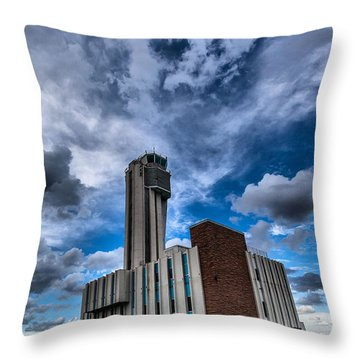 Stapleton International Airport Throw Pillow by Steven Reed