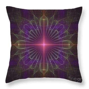 Throw Pillow featuring the digital art Star 1 by Ursula Freer