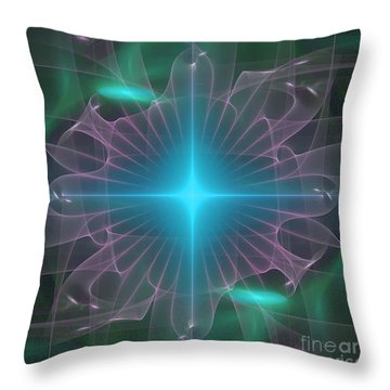 Throw Pillow featuring the digital art Star 2 by Ursula Freer
