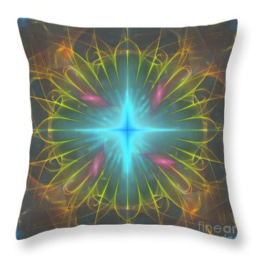 Throw Pillow featuring the digital art Star 4 by Ursula Freer