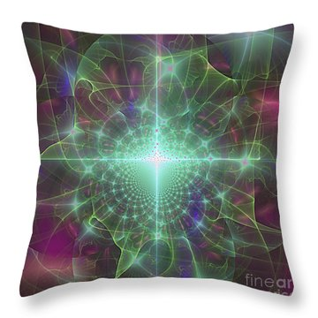 Throw Pillow featuring the digital art Star 5 by Ursula Freer