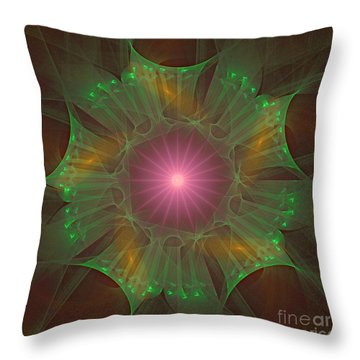 Throw Pillow featuring the digital art Star 6 by Ursula Freer