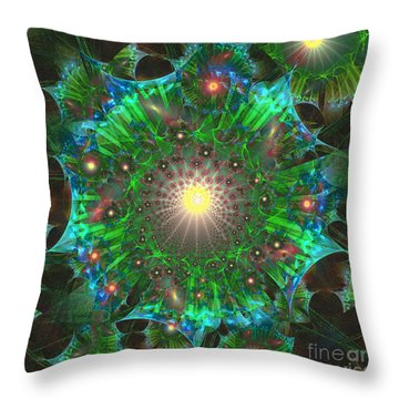 Throw Pillow featuring the digital art Star 9 by Ursula Freer