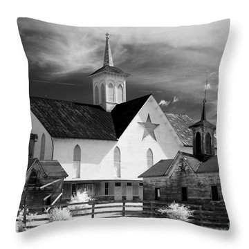 Star Barn Complex In Infrared Throw Pillow