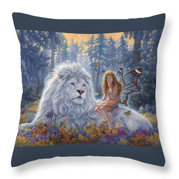 Star Birth Throw Pillow by Lucie Bilodeau