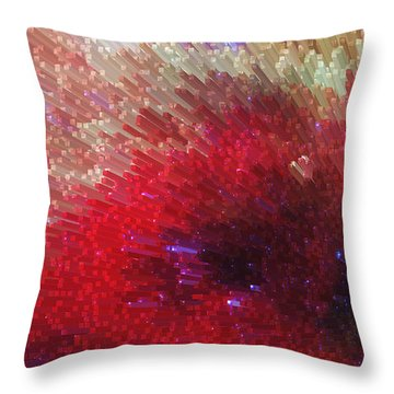 Star Burst - Red Abstract Art By Sharon Cummings Throw Pillow by Sharon Cummings