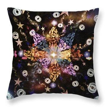 Star Burst Throw Pillow by Sherry Flaker