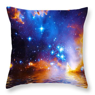 Stars As Diamonds Throw Pillow