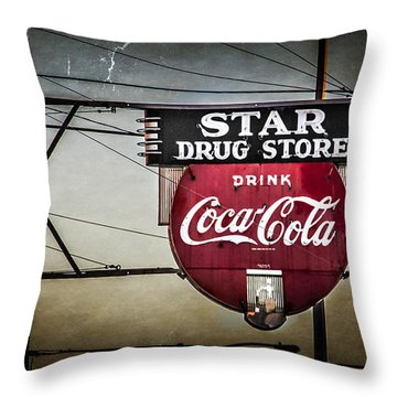 Star Drug Store 2 Throw Pillow by Perry Webster