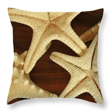 Star Fish Throw Pillow by Inspired Nature Photography Fine Art Photography
