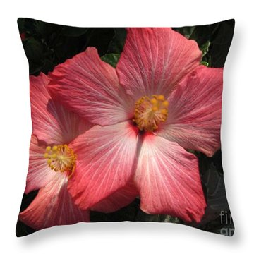 Star Flower Throw Pillow by Barbara Griffin