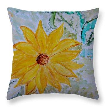 Star Flower Throw Pillow by Sonali Gangane