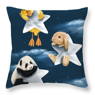 Star Games Throw Pillow