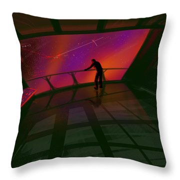 Star Gazer Throw Pillow by James Christopher Hill