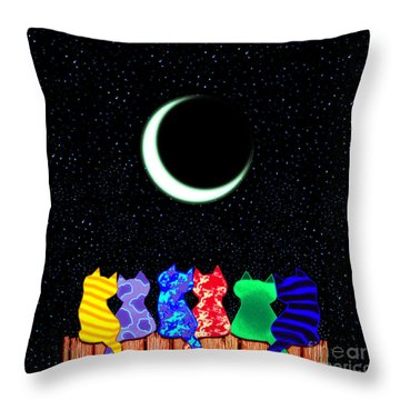 Star Gazers Throw Pillow by Nick Gustafson