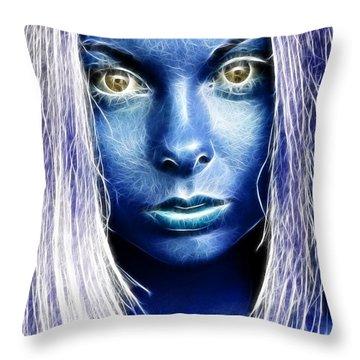 Star Girl Throw Pillow by Richard Thomas