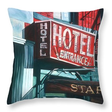 Star Hotel Throw Pillow by Anthony Butera