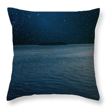 Star Island Throw Pillow by AR Annahita