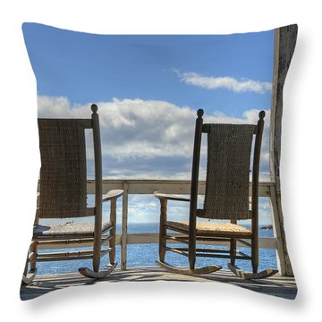 Star Island Rocking Chairs Throw Pillow