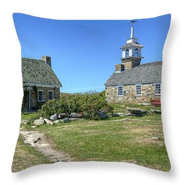 Star Island Village Throw Pillow