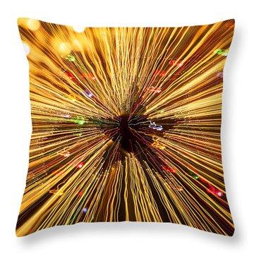 Star Lights Throw Pillow by Garry Gay