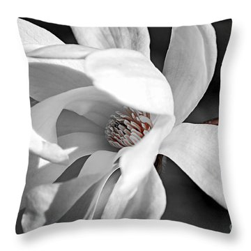 Star Magnolia Flower Throw Pillow