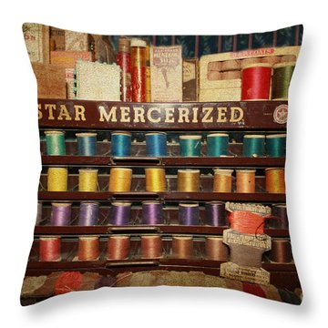 Star Mercerized Thread Display Throw Pillow by Janice Rae Pariza
