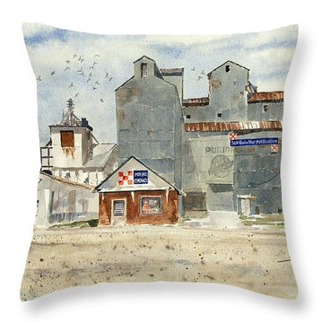 Star Mill Throw Pillow