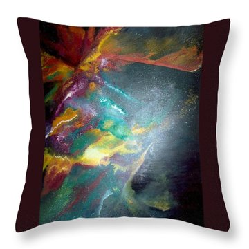 Star Nebula Throw Pillow by Carrie Maurer