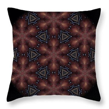 Star Octopus Mandala Throw Pillow by Karen Buford