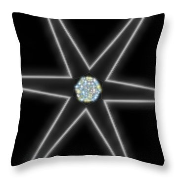 Star Of Creation Digital Art By Saribelle Rodriguez Throw Pillow by Saribelle Rodriguez