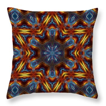 Star Of David Throw Pillow by Lilia D