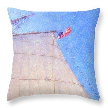 Star Of India. Flag And Sail Throw Pillow by Ben and Raisa Gertsberg