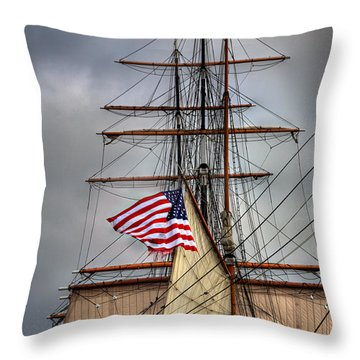 Star Of India Stars And Stripes Throw Pillow