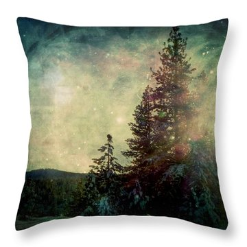 Star Of Solstice Throw Pillow by Leah Moore