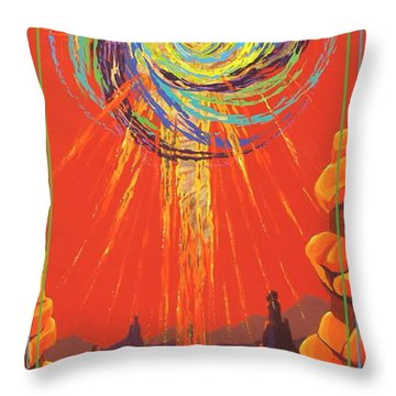 Throw Pillow featuring the painting Star Of Splendor by Alan Johnson