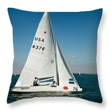 Star Sailboat Throw Pillow